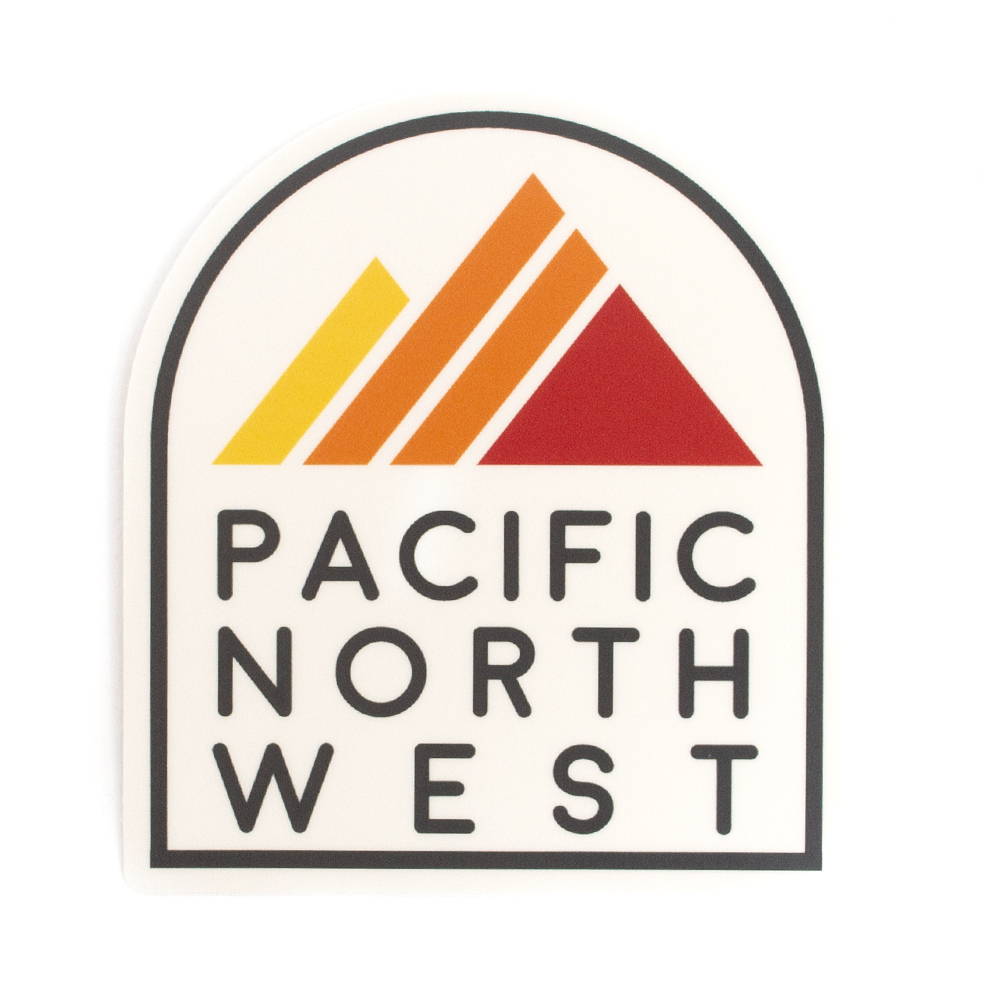 Sticker, Northwest Theme, Mountain Stripes, PNW